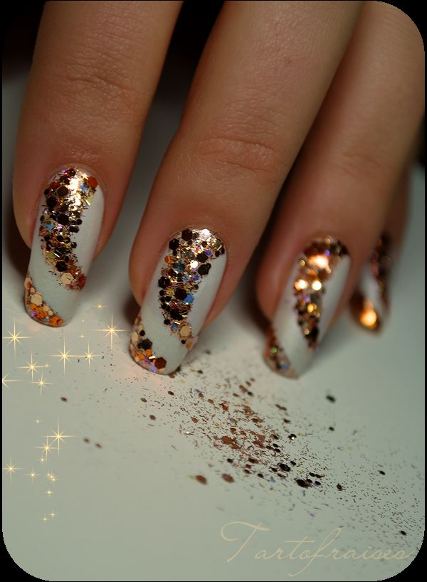 Top 10 wzory na paznokcie na sylwester styllowy Cool nail design ideas at home