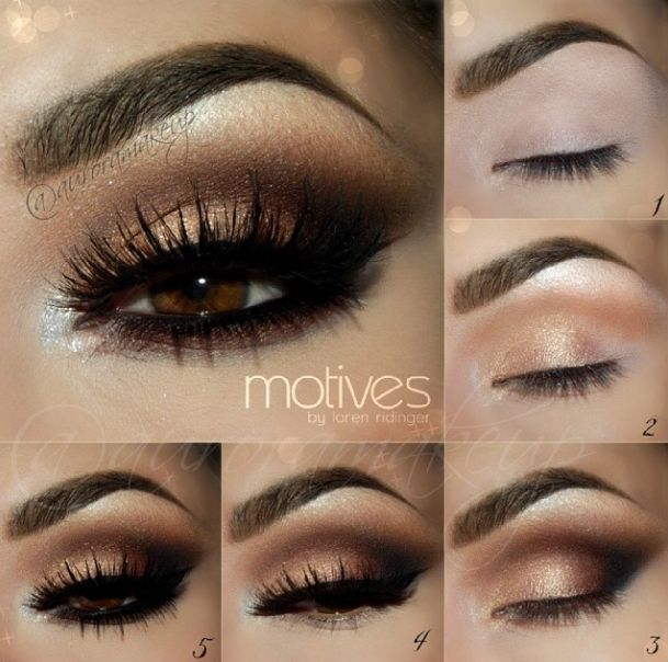 Dramatic Bridal Makeup Brown Eyes : ZLoto br?zowe makijaze na studniowk?. Jak zrobi? makijaz ...
